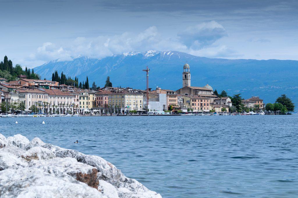 The waters of Lake Garda